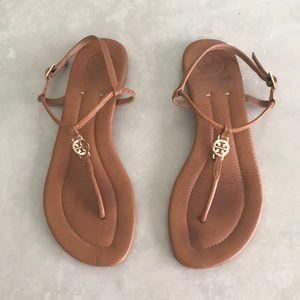 Tory Burch Emmy Flat Thong Sandal Size 8 Royal Tan
